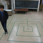 "The School for Tomorrow gives students the opportunity to walk the labyrinth in its ""Chill Room"" during the school day."