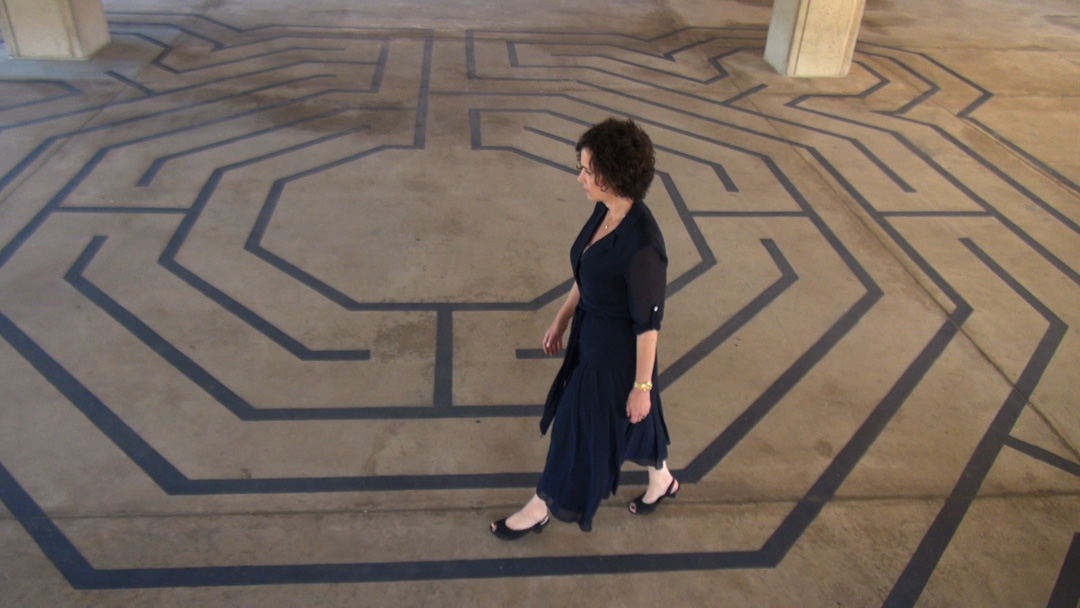 Resident artists at the Georgetown Lombardi Comprehensive Cancer Center painted the labyrinth at MedStar Georgetown University Hospital.